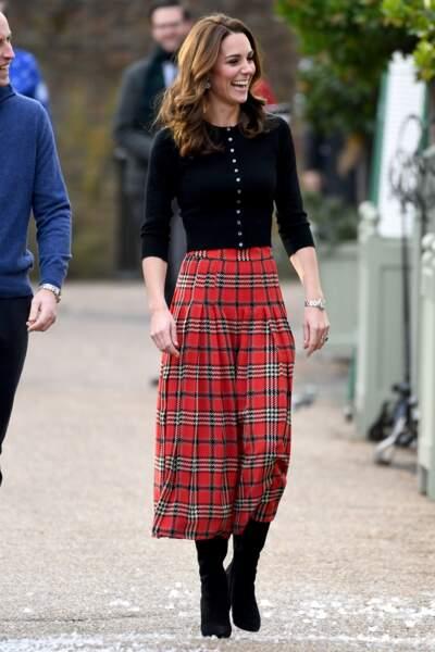 Kate Middleton parfaite pour l'esprit de Noël