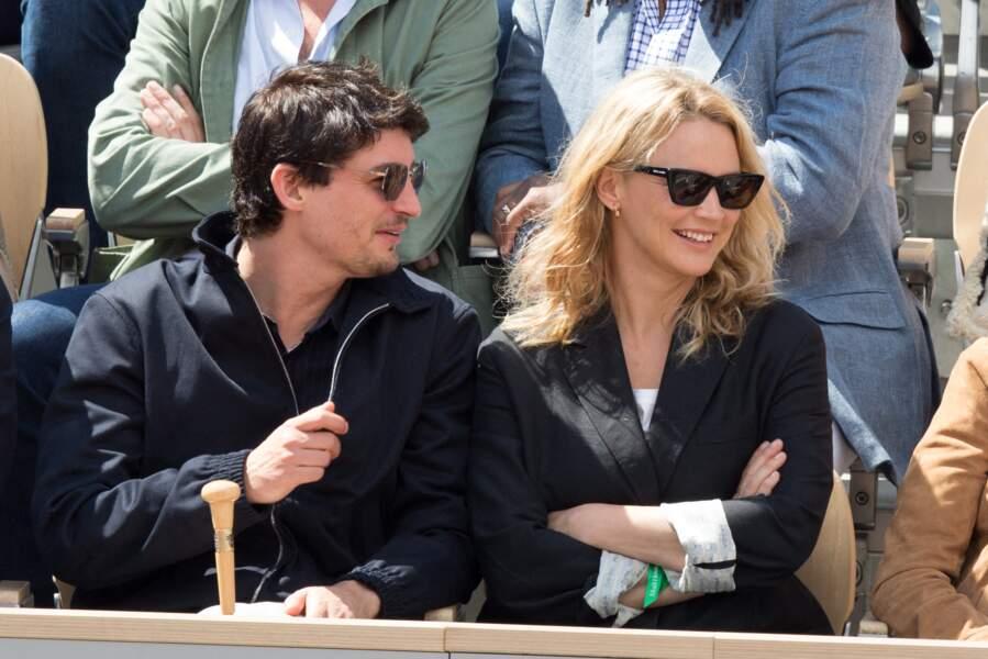 Niels Schneider et Virginie Efira à Roland Garros