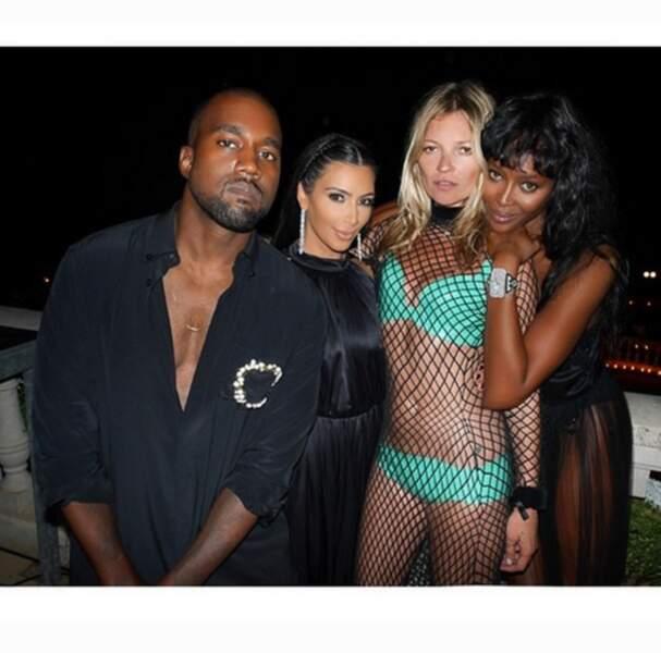 Kanye, Kim, Kate et Naomi