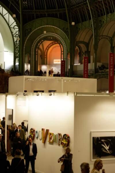Beaucoup de monde au Grand Palais pour le lancement de la Fiac