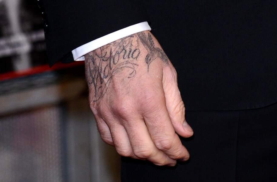 Tatouage - David Beckham, son tatouage Victoria