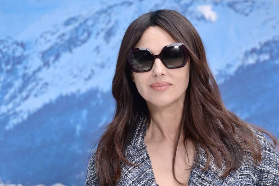 Monica Bellucci au défilé Chanel automne-hiver 2019-2020 pour un dernier hommage à Karl Lagerfeld