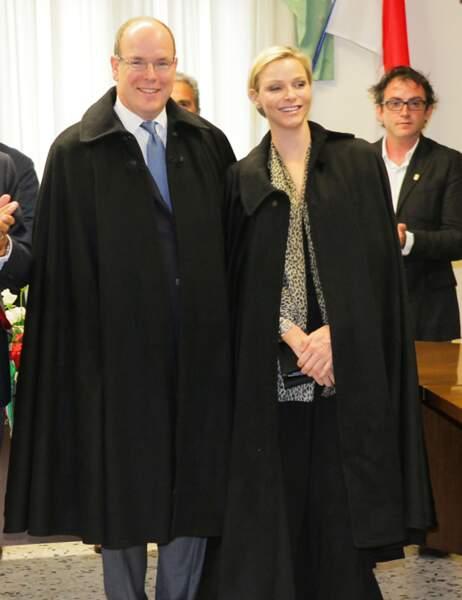 Le couple princier à la mairie