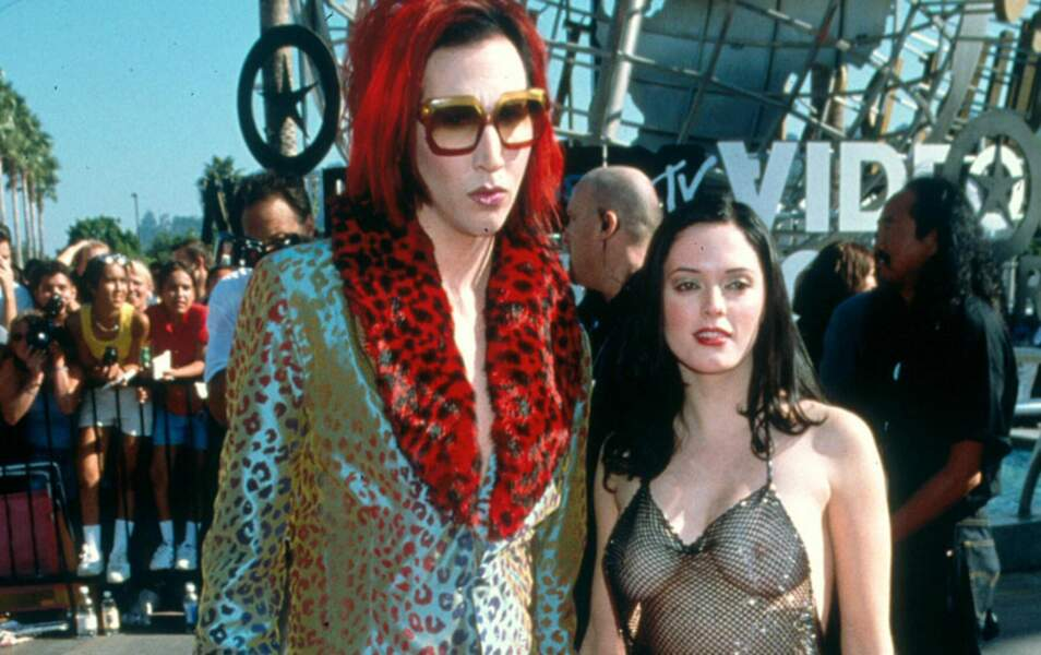 Rose McGowan et Marilyn Manson - MTV VMA 1998