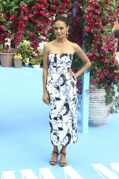 Thandie Newton à l'avant-première de Mamma Mia 2 à Londres, le 16 juillet