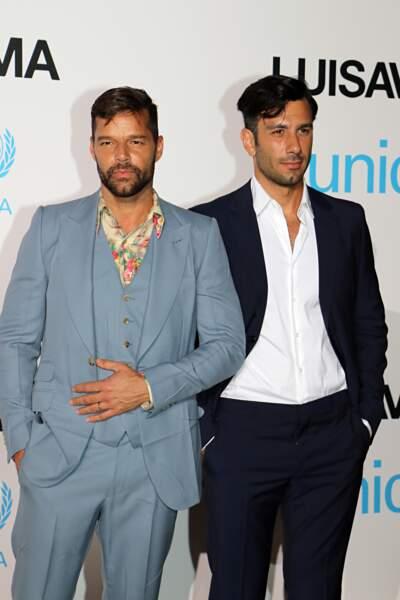 Ricky Martin, au gala de l'UNICEF en Sardaigne, le 10 août 2018