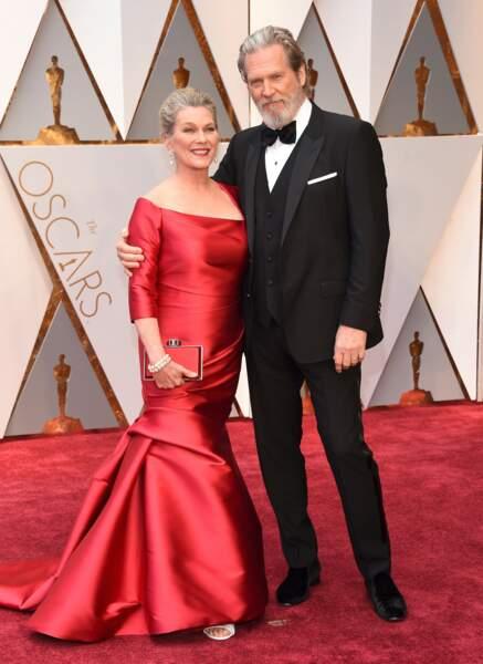 Les plus beaux couples des Oscars 2017 : Susan Geston et Jeff Bridges