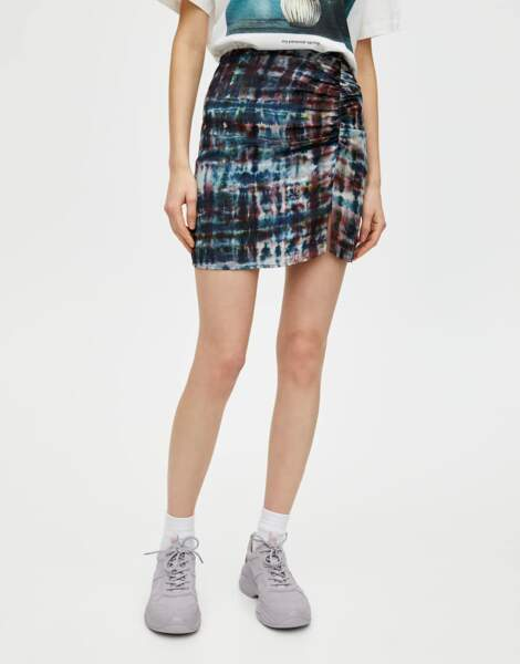 Minijupe tie and dye, Pull and bear, 17,99€