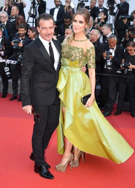 Cannes - Montée des Marches pour le 70ème anniversaire : Antonio Banderas & Nicole Kimpel