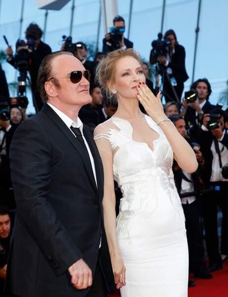 Quentin Tarantino et Uma Thurman