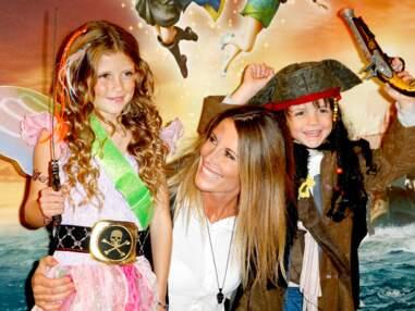 Sophie Thalmann et ses enfants s'éclatent à l'avant-première de Clochette