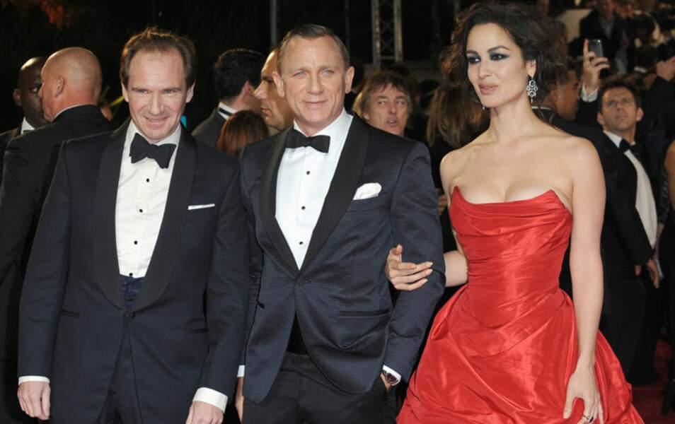 Ralph Fiennes, Daniel Craig et Bérénice Marlohe