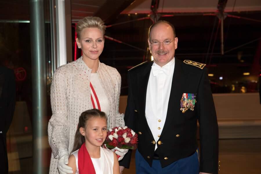 Fête nationale à Monaco - Charlène et Albert de Monaco au concert donné le soir