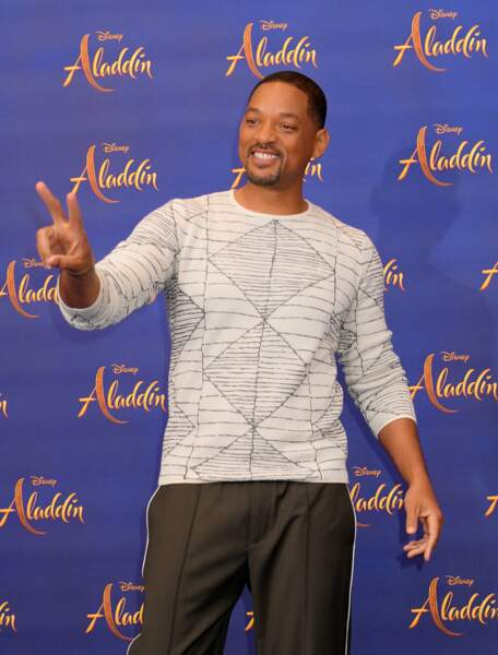 Will Smith et sa bonne humeur légendaire lors du photocall du nouveau live action Disney