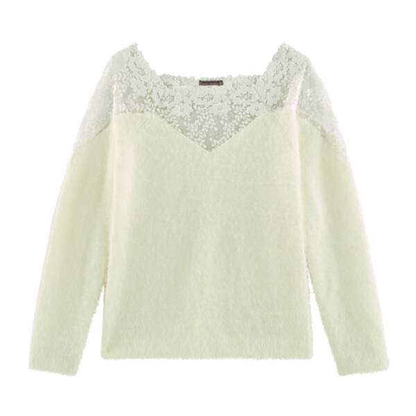 Pull Glace blanc. 39,90 €, RougeGorge