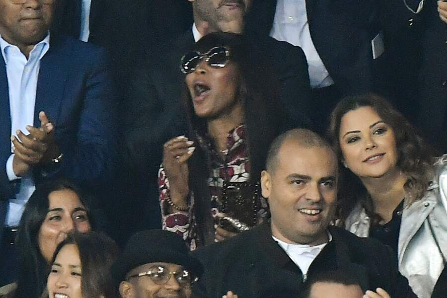 Les people au match PSG vs Bayern de Munich : Naomi Campbell
