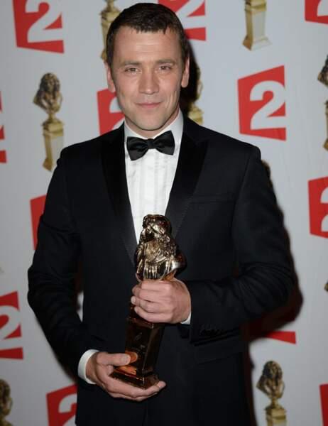 Grégory Gadebois a remporté le Molière du meilleur comédien seul en scène dans Des fleurs pour Algernon