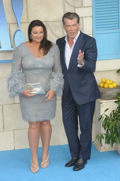 Pierce Brosnan et sa femme Keely Shaye Smith à l'avant-première de Mamma Mia 2 à Londres, le 16 juillet