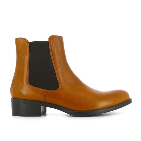 Chelsea boots camel, Jonak, 119€