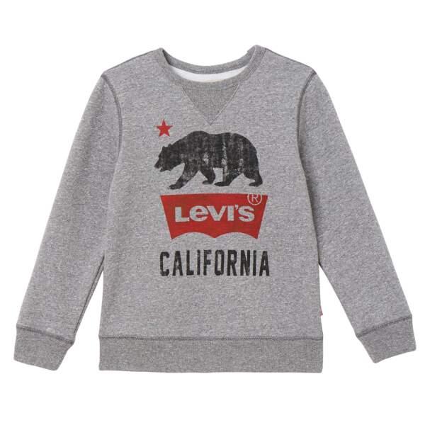 Sweatshirt standard Fit. 72% coton et 28% polyester, à partir de 50€, Levi's Kids