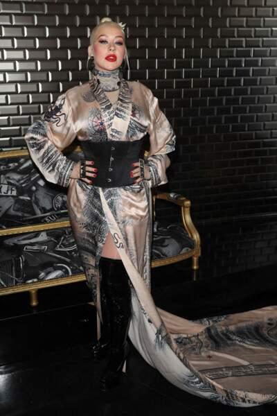 Christina Aguilera au défilé Jean-Paul Gaultier