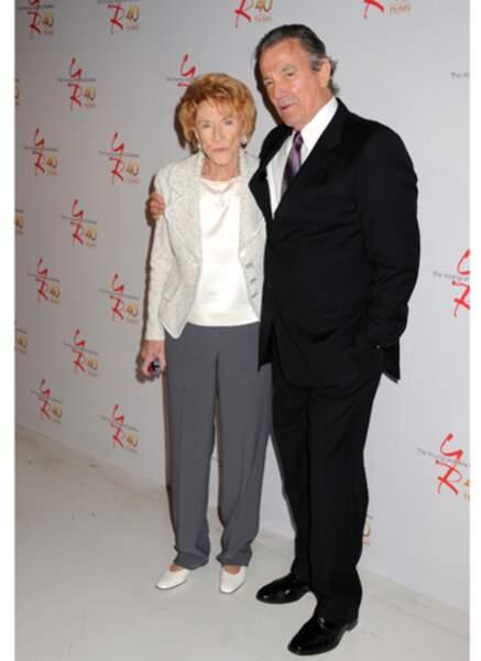 Jeanne Copper (Katherine Chancelor) et Eric Braeden (Victor Newman)