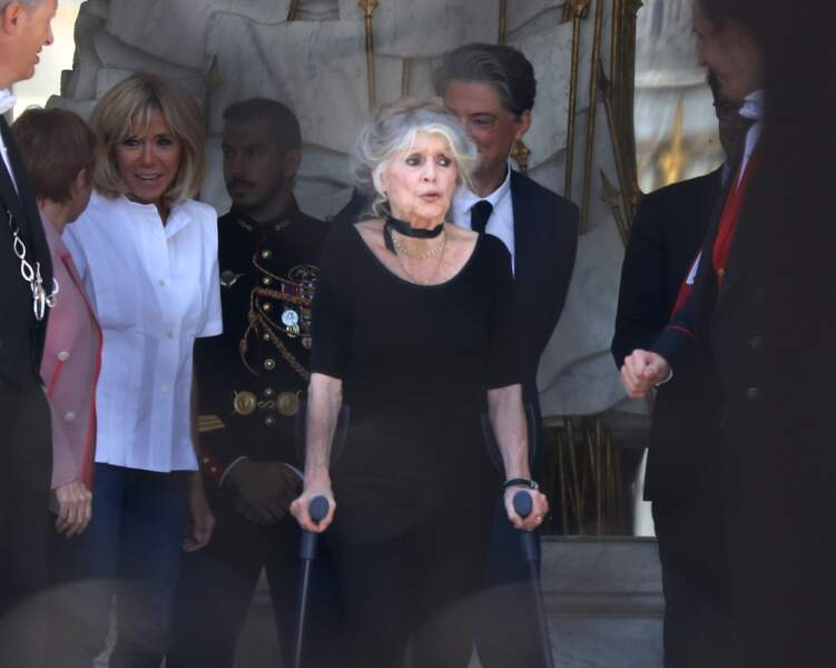 Brigitte Macron et Brigitte Bardot à l'Elysée