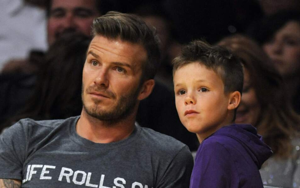 David Beckham et son fils Cruz