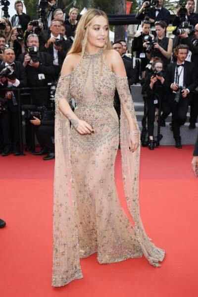 Cannes - Montée des Marches pour le 70ème anniversaire : Rita Ora