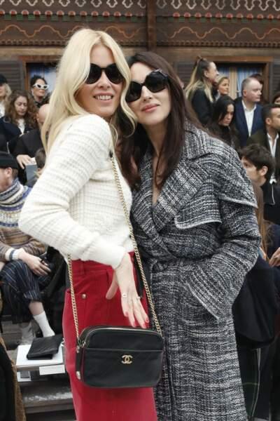 Claudia Schiffer et Monica Bellucci au défilé Chanel automne-hiver 2019-2020