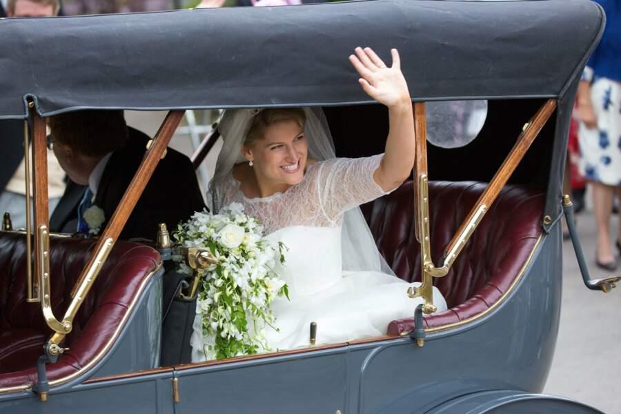 Mariage de Celia McCorquodale et George Woodhouse : le départ des jeunes mariés