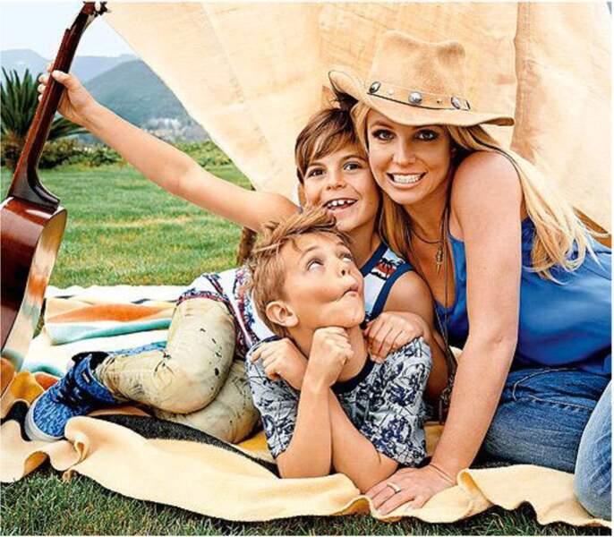 Britney Spears et ses deux fils
