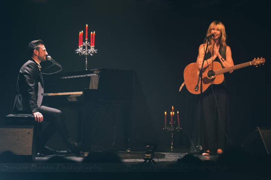 Concert de Michal : le chanteur avec Romane Serda