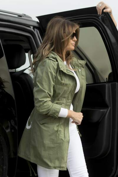 Melania Trump arrive à l'Andrews Air Force Base de Washington