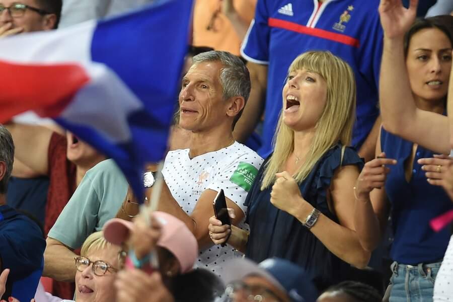 Jusqu'à la dernière seconde du match, le couple a visiblement cru en la victoire de l'équipe de France