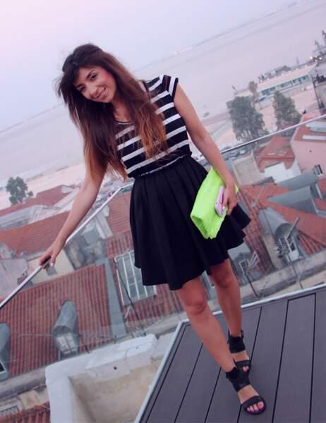 Marieluvpink en robe et spartiates noires