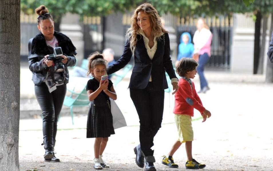 Jennifer Lopez en famille