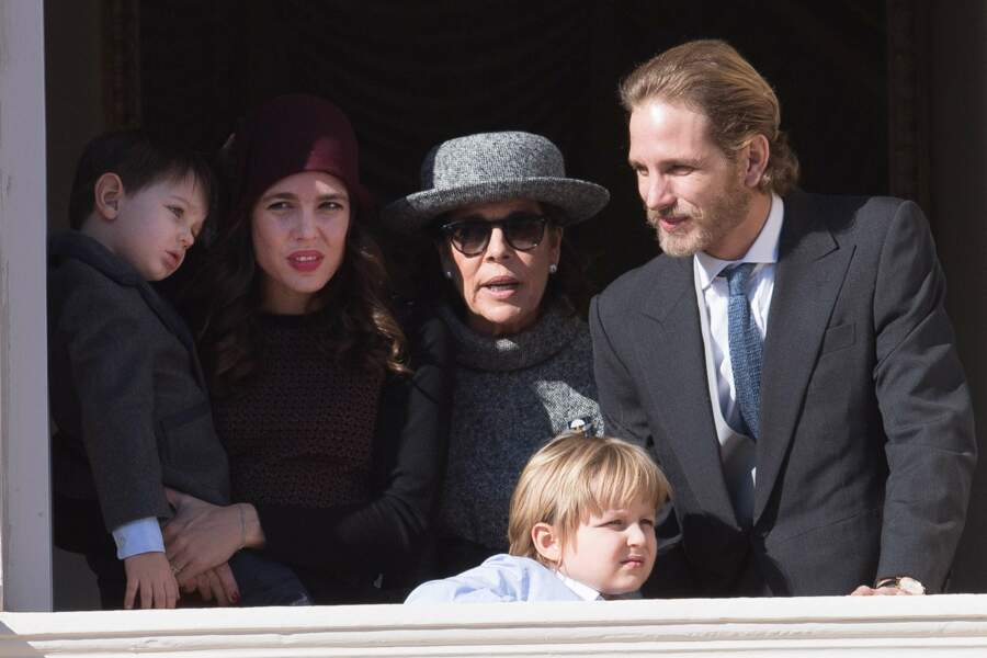 Fête nationale à Monaco - Raphaël, Charlotte Casiraghi, Princesse Caroline, Andrea Casiraghi et Sacha