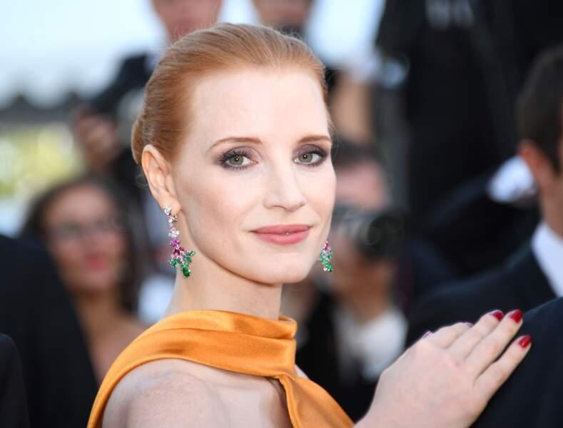 Cannes - Montée des Marches pour le 70ème anniversaire : Jessica Chastain