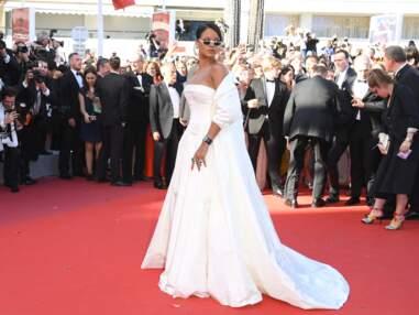 PHOTOS Cannes 2017 : Rihanna en robe bustier sexy, dos nu pour Bella Hadid et Lily Collins