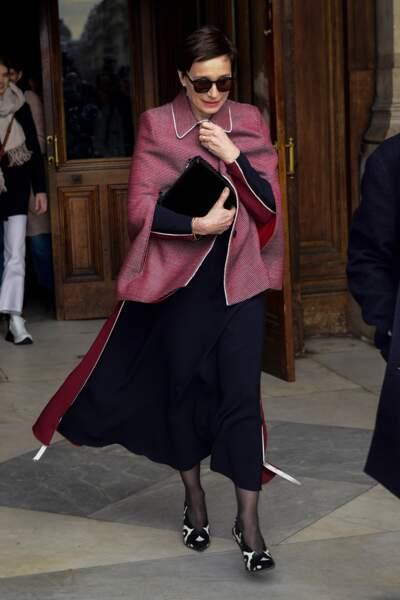 Kristin Scott Thomas, au défilé Stella McCartney lors de la fashion week de Paris, le 5 mars 2018