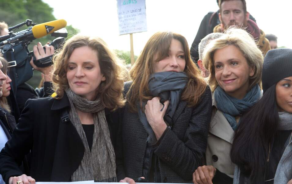 Nathalie Kosciusko-Morizet, Carla Bruni-Sarkozy, Valérie Pécresse et Mia Frye