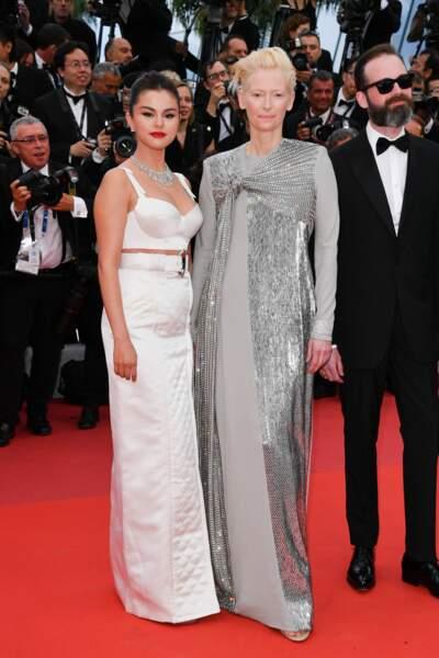 Selena Gomez a pris la pose au côté de l'actrice Tilda Swinton
