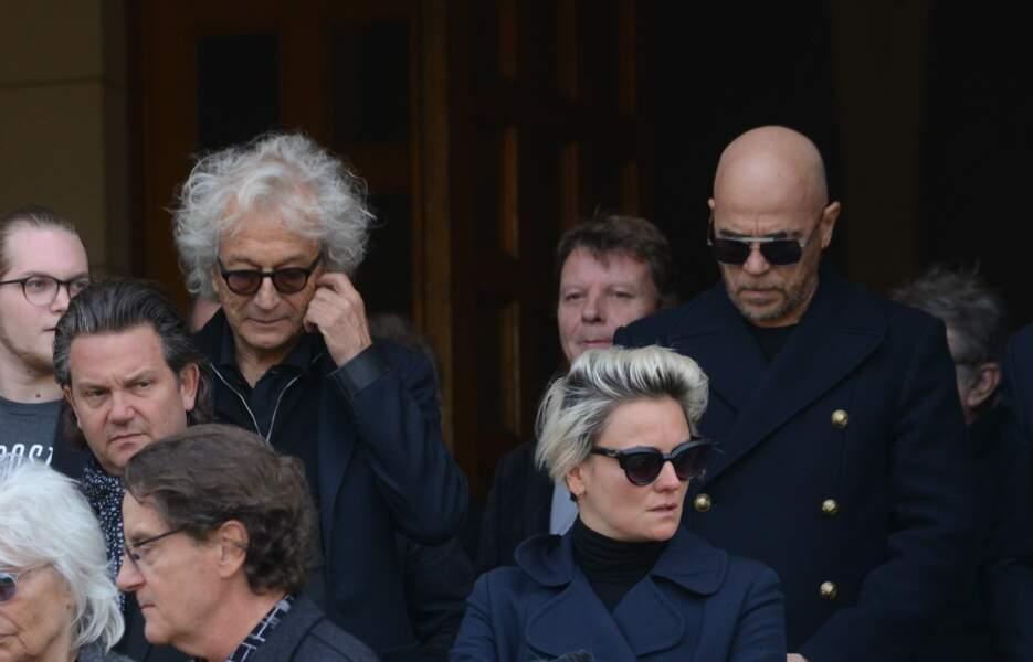 Obsèques de Maurane à Woluwe-Saint-Pierre en Belgique : Luc Plamandon et Pascal Obispo