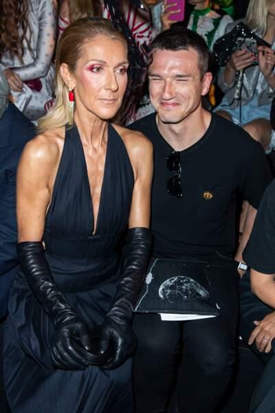 Céline Dion et Pepé Muñoz complices au défilé haute couture Schiaparelli à Paris