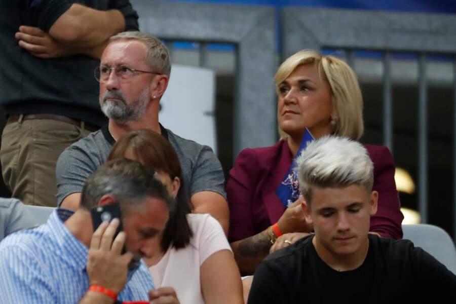 Les parents d'Antoine Griezmann dans les tribunes de France/Pays-Bas, le 9 septembre