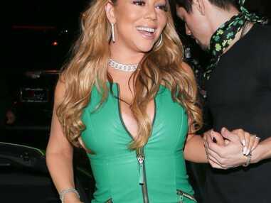 PHOTOS Mariah Carey très sexy et très décolletée pour fêter la Saint-Patrick