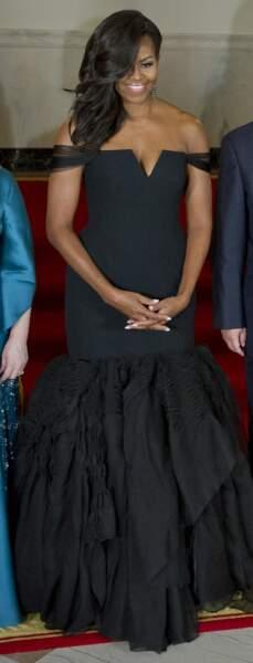Michelle Obama en Vera Wang