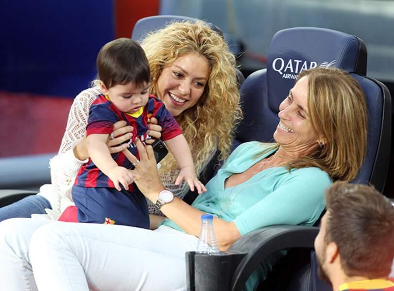 Shakira et Milan au stade