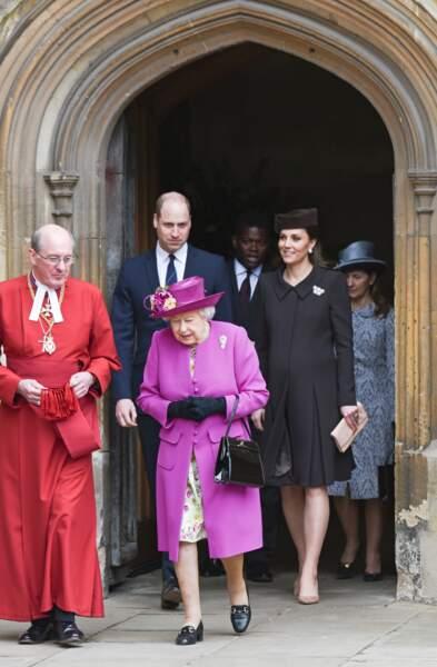 La reine Elizabeth, le prince William et Kate Middleton